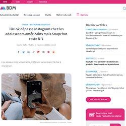 TikTok dépasse Instagram chez les adolescents américains mais Snapchat reste N°1