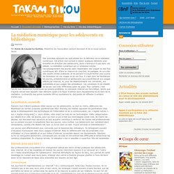 La médiation numérique pour les adolescents en bibliothèque