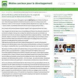 [Archive AK-Dev] La thèse de danah boyd sur les usages des réseaux sociaux par les adolescents américains - Médias sociaux pour le développement