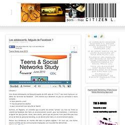 Les adolescents, fatigués de Facebook ?