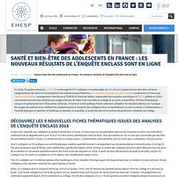 Santé et bien-être des adolescents en France : les nouveaux résultats de l'enquête EnCLASS sont en ligne