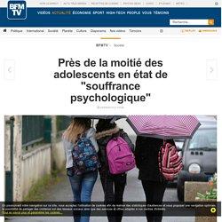 """Près de la moitié des adolescents en état de """"souffrance psychologique"""""""