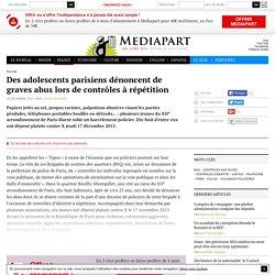 Des adolescents parisiens dénoncent de graves abus lors de contrôles à répétition