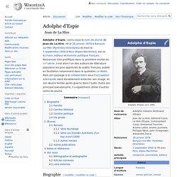 Adolphe d'Espie