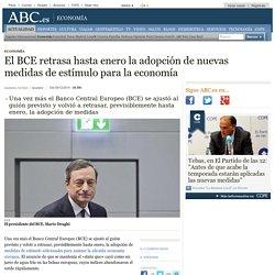 El BCE retrasa hasta enero la adopción de nuevas medidas de estímulo para la economía