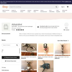 ADOPTABOT The world's first robot orphanage by Adoptabot on Etsy