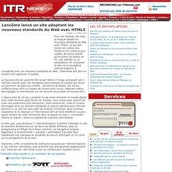 Lancôme lance un site adoptant les nouveaux standards du Web avec HTML5