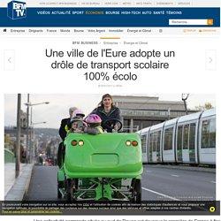 Une ville de l'Eure adopte un drôle de transport scolaire 100% écolo