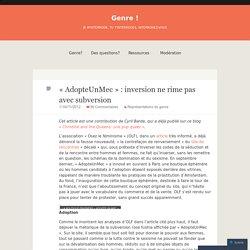 « AdopteUnMec » : inversion ne rime pas avec subversion
