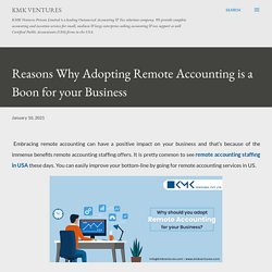Reasons Why Adopting Remote Accounting is a Boon for your Business