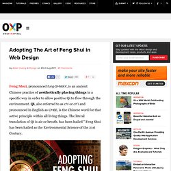 Adopting Feng Shui in Web Design | Onextrapixel - Showcasing Web Treats Without A Hitch