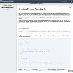 Adopting Modern Objective-C