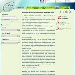 """0716 Rapport """"L'accompagnement vers et dans l'emploi"""""""
