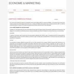 L'adoption du commerce électronique