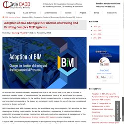 Adoption of BIM, Changes the Function of Drawing and Drafting Complex MEP Systems