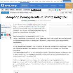 Adoption homoparentale: Boutin indignée