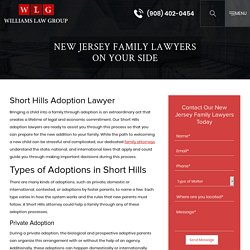 Short Hills Adoption Lawyer