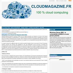 Adoption du Cloud et risques associés