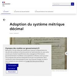 Adoption du système métrique décimal