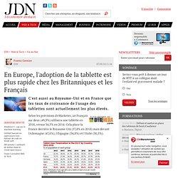 En Europe, l'adoption de la tablette est plus rapide chez les Britanniques et les Français