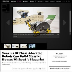 Swarms Of These Adorable Robots Can Build Massive Houses Without A Blueprint