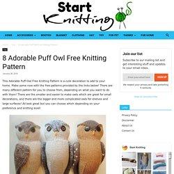 8 Adorable Puff Owl Free Knitting Pattern