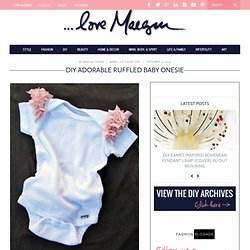 DIY Adorable Ruffled Baby Onesie