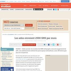 High-Tech : Les ados envoient 2500 SMS par mois