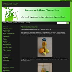 Adoucissant aux agrumes - L'Apprenti Ecolo