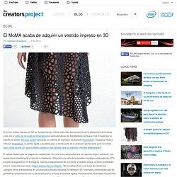 El MoMA acaba de adquirir un vestido impreso en 3D