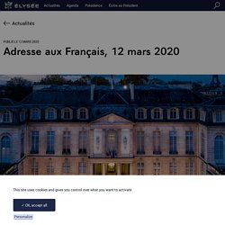 Adresse aux Français, 12 mars 2020