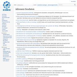 Adressen Geodaten – GISWiki