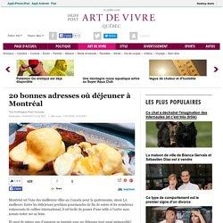 20 bonnes adresses où déjeuner à Montréal