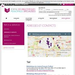 Adresses et contacts