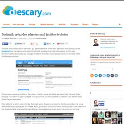 Dudmail: créez des adresses mail jetables évoluées
