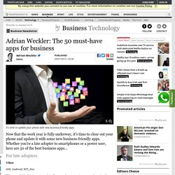 Adrian Weckler: The 50 must-have apps for business