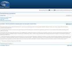 PARLEMENT EUROPEEN - Réponse à question E-002576-17 'Zincherie Adriatiche' industrial plant: soil and aquifer contamination