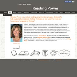 Adrienne Gear Reading Power homepage