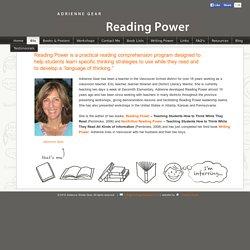 Adrienne Gear Reading Power homepage