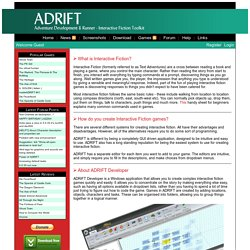 ADRIFT: Create your own Interactive Fiction