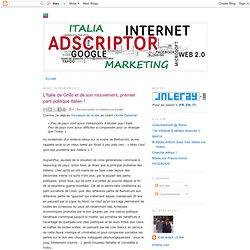 L'Italie de Grillo et de son mouvement, premier parti politique italien !