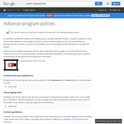AdSense program policies - AdSense Help