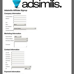 Adsimilis Affiliate Signup