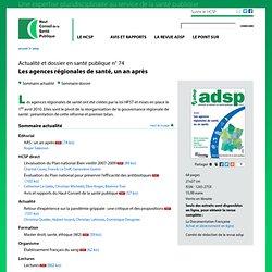 adsp n° 74 - Les agences régionales desanté, unanaprès