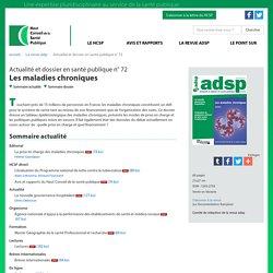 Les maladies chroniques : dossier - Actualité et dossier en santé publique n° 72