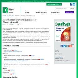 adsp n° 93 - Climat et santé