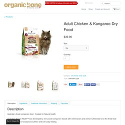 Adult Chicken & Kangaroo Dry Food