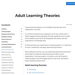 10 Adult Learning Theories