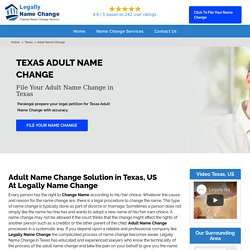 Adult Name Change in Texas