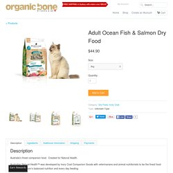 Adult Ocean Fish & Salmon Dry Food
